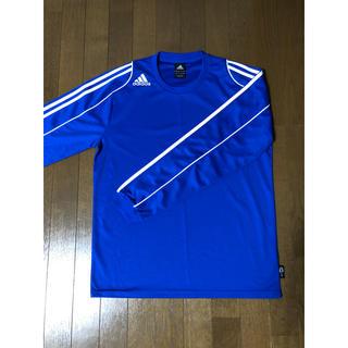 アディダス(adidas)のアディダス adidas 長袖 トレーニングシャツ Lサイズ 青 美中古(ウェア)