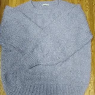 ジーユー(GU)のGU購入 シャギーニット パープル(ニット/セーター)