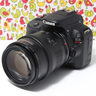 キヤノン(Canon)の❣️女性に人気・Wi-Fi❣️キャノン Kiss X7 レンズセット(デジタル一眼)