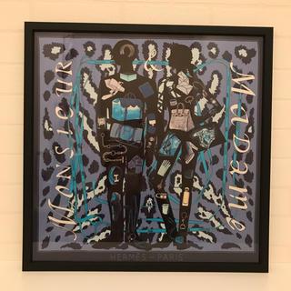 エルメス(Hermes)のエルメス プチカレ 額装済「ムッシュー&マダム」(バンダナ/スカーフ)