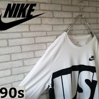 ナイキ(NIKE)の【NIKE】デカロゴ ビックロゴ ロングtシャツ XLサイズ(Tシャツ/カットソー(七分/長袖))