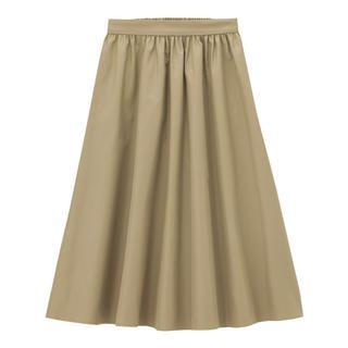 ジーユー(GU)の【再掲載・最終値下げ】GU ベージュ スカート S(ひざ丈スカート)