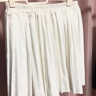 ホワイトプリーツミニスカート(ミニスカート)