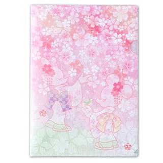 ディズニー(Disney)の桜 クリアファイル ディズニー サクラモチーフ(クリアファイル)