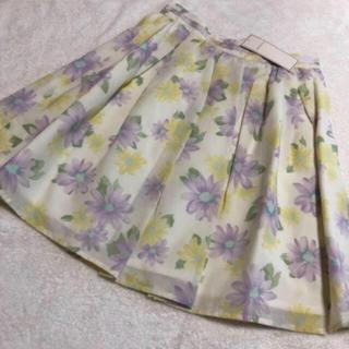 ロディスポット(LODISPOTTO)のキャンディーフラワースカート*.(ミニスカート)