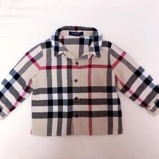 バーバリー(BURBERRY)のバーバリー♡ノバチェック チェックシャツ ビッグチェック 90 長袖シャツ(ブラウス)