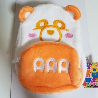 トリプルエー(AAA)のAAA え~パンダ リュック型ポーチ オレンジ(ミュージシャン)