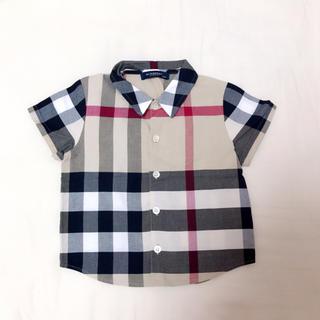 バーバリー(BURBERRY)のバーバリー♡ノバチェック チェックシャツ ビッグチェック 90 半袖シャツ(ブラウス)