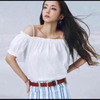 エイチアンドエイチ(H&H)の安室奈美恵 H&M ストライプバギーパンツ♡(バギーパンツ)