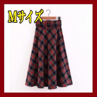 ⭐️年末SALE⭐️大人気♪秋冬レディース【チェック ロングスカート】Mサイズ(ロングスカート)