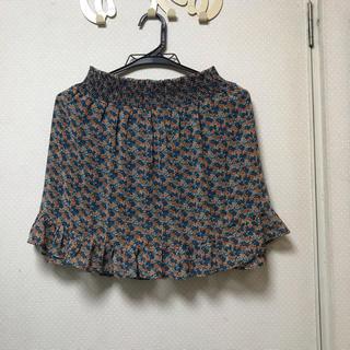 ザラ(ZARA)の花柄 スカート(ミニスカート)