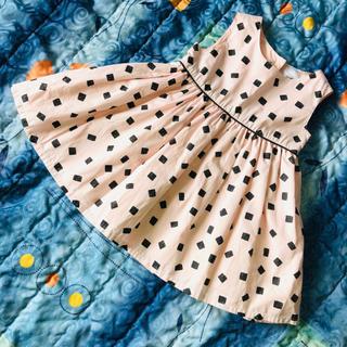 新品⭐️四角いドット柄 ワンピース ドレス 75