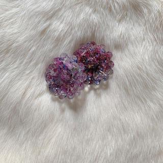 botanical flower (purple)(ピアス)