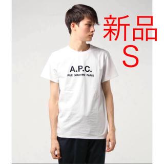 新品♡A.P.C. 刺繍入りTシャツ  ロゴTシャツ