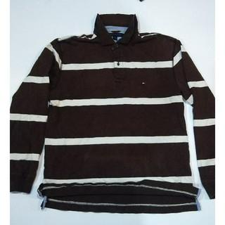 トミーヒルフィガー(TOMMY HILFIGER)のUSA古着 トミー ボーダー #L(ポロシャツ)