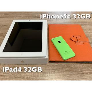 アップル(Apple)のiPhone5c & iPad4 ✨セット✨(スマートフォン本体)