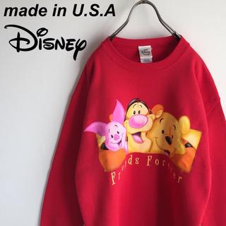 ディズニー(Disney)の美品 USA製 ディズニー ぷーさん ビッグデザイン スウェット トレーナー(スウェット)