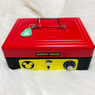 ディズニー(Disney)のディズニー♡ミッキー 金庫 ミニ 鍵付き(オフィス用品一般)