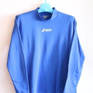 アシックス(asics)の17 asics インナーシャツ Mサイズ 青色(ウェア)
