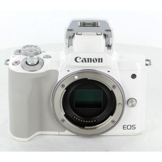 キヤノン(Canon)のキヤノン EOS kiss M ホワイト EF-M15-45 セット(ミラーレス一眼)