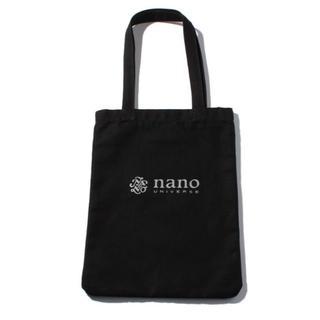 ナノユニバース(nano・universe)の【新品】 NANOUNIVERSE ロゴ トートバッグ ブラック(トートバッグ)