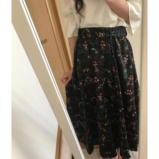 テチチ(Techichi)のテチチ ロングスカート 冬用 花柄(ロングスカート)