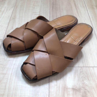TODAYFUL - cross leather sandal 38