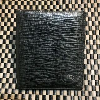 バーバリー(BURBERRY)のバーバリー/ 型押しレザー2つ折り財布(折り財布)