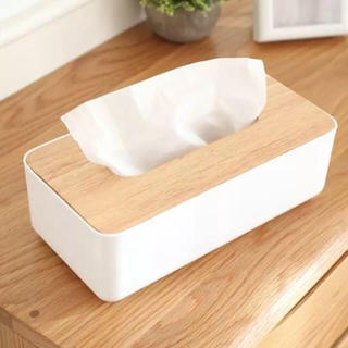 26cm 木製ふたのティッシュケースボックス(ティッシュボックス)