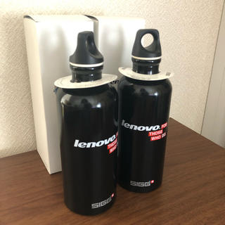 シグ(SIGG)の新品未使用 非売品 lenovo SIGGボトル 2個(登山用品)