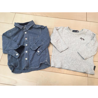 MUJI (無印良品) - 長袖 80サイズ  2枚セット 無印良品 futafuta