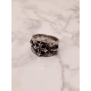 シルバー925 クロスデザインリング スターリングシルバー 燻し加工(リング(指輪))