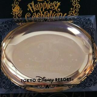 Disney - ディズニーリゾート 35周年 ゴールド トレー