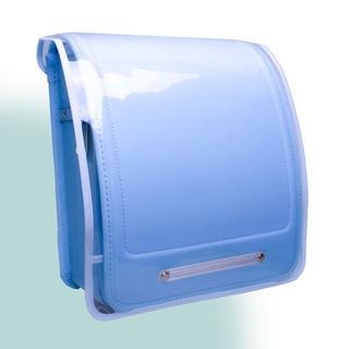 ランドセルカバー 透明 Clear × Solid サックスブルー(ランドセル)
