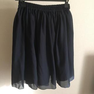 テチチ(Techichi)のTe chichi ネイビースカート M(ひざ丈スカート)