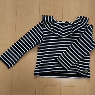 フタフタ(futafuta)の女の子 ボーダー フリル カットソー 120cm(Tシャツ/カットソー)