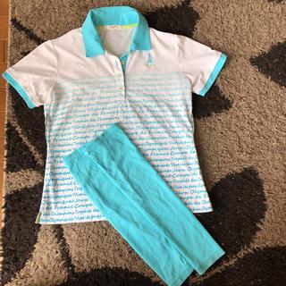 マリクレール(Marie Claire)のマリクレール ポロシャツ アームカバー付 レディース L(ポロシャツ)