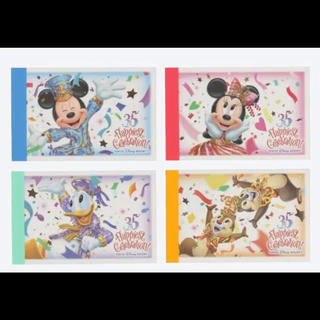 ディズニー(Disney)のディズニーランド35周年限定 メモ帳2つ(ノート/メモ帳/ふせん)