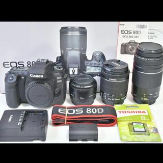 Canon EOS 80D トリプルレンズセット 即購入OK(デジタル一眼)