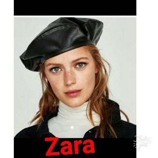 ザラ(ZARA)のZARAビニールベレー(ハンチング/ベレー帽)