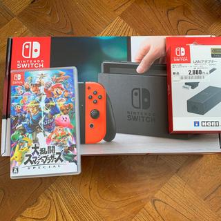 Nintendo Switch - Switch&大乱闘スマッシュブラザーズSpecial &LANアダプター!