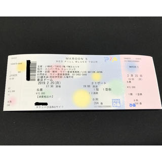 マルーン5 東京ドーム ライブチケット 2/25(海外アーティスト)
