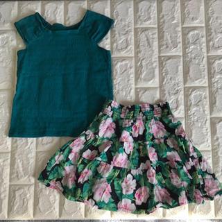 GU - GU トップス&花柄スカート  2点 ♡ 120サイズ
