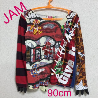 ジャム(JAM)のJAM◾️なりきりロンT◾️90cm◾️爪付き◾️ROCK◾️春 ヴィンテージ(Tシャツ/カットソー)
