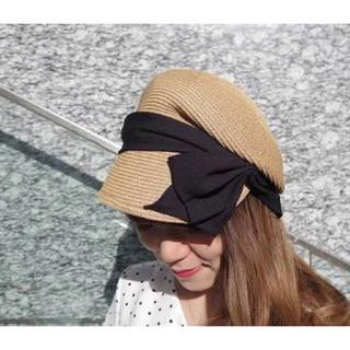 カシラ(CA4LA)の2018年購入 CA4LA ONION リボンキャスケット 帽子 美品(麦わら帽子/ストローハット)