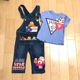 ジャム(JAM)のjam♡サロペ Tシャツ 100 セット(Tシャツ/カットソー)