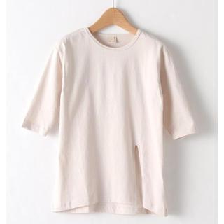 petit main - プティマイン 春の新作 サイドロングスリットTシャツ (100)