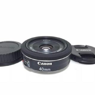 Canon EF 40mm stm F2.8 単焦点 レンズ キャノン(レンズ(単焦点))