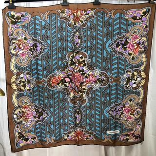 ティファニー(Tiffany & Co.)の美品 ティファニー ステンドグラス柄 スカーフ 正規品(バンダナ/スカーフ)
