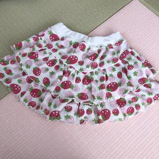 西松屋 - いちご柄 キュロットスカート 100